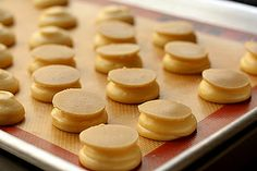 Recipe for craquelin. Sweet dough disks that are put on pate a choux to create a crackled texture.