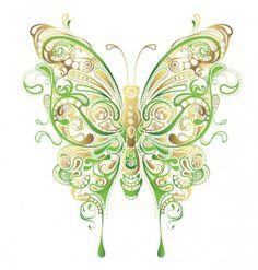 Butterfly art name: abstract floral butterfly vector art clipart vetor, vet Butterfly Outline, Cartoon Butterfly, Butterfly Clip Art, Butterfly Drawing, Green Butterfly, Butterfly Pattern, Butterfly Artwork, Butterfly Illustration, Butterfly Shape