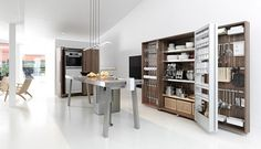 New Design Trend : Hidden Kitchens from Bulthaup