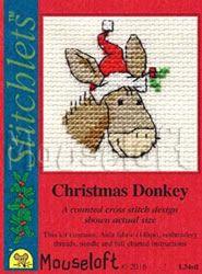 Cross Stitch Cards, Cross Stitch Kits, Cross Stitch Patterns, Christmas Donkey, Christmas Cross, Card Envelopes, Xmas Ornaments, Embroidery, Stitch 2