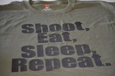 Shoot Eat Sleep mens gun t shirt size large by gorillatactical