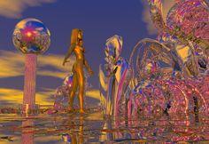"Bryce, Series ""Otherworld"", 1999/2000 Fractal Art, Fractals, Photo Manipulation, Digital Art, Fair Grounds, Painting, Paintings, Draw, Photo Editing"