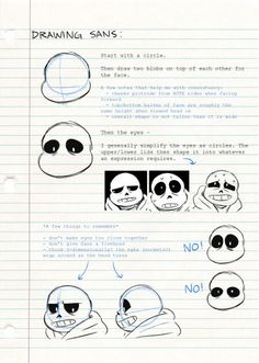 HOW TO DRAW THE SANS