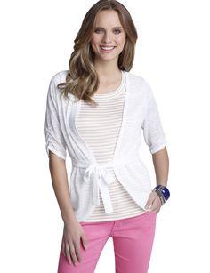 Lightweight white cardigan for summer