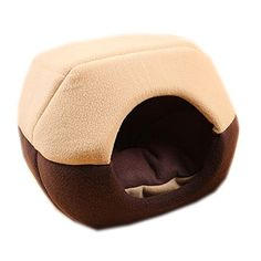Aest Best Pet Supplies Home kennel Cat Litter and Warm Folding Dog House Sweet Comfortable Breathable Tent Home Bed Coffee * Read more reviews of the product by visiting the link on the image.