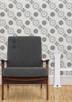 Image of Darjeeling Wallpaper - Welsh Slate. mini modern-love button feature