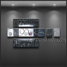 Beautiful Contemporary Wall Art Artist Oil Painting For Bed Room Abstract. This 5 panels canvas wall art is hand painted by Kerr.Donald, instock - $172. To see more, visit http://OilPaintingShops.com