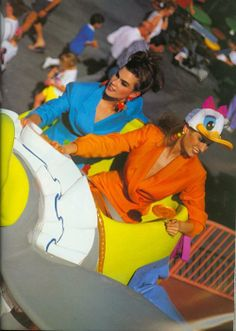 Disneyland Editorial from………….Vogue UK March 1991 feat Meghan Douglas and Unknown model