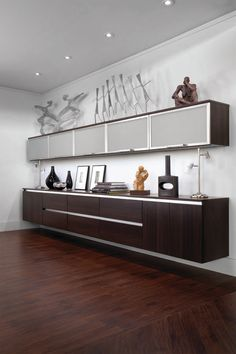 Glamorous office credenza in Home Office Modern with Lift Up Cabinet Doors next to Wall Mounted Cabinet alongside Floating Cabinets and Ikea Besta
