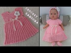 كروشيه فستان اطفال باسهل طريقة للمبتدئات (طقم كروشيه بناتي) Crochet Easy... Crochet Dress Girl, Girls Dresses, Crochet Hats, Baby, Fashion, Dresses Of Girls, Knitting Hats, Moda, Fashion Styles