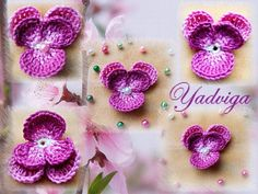 VALYS HANDMADE: CROCHET PANSIES - SPRING - FLOWERS ! -- Wendy Schultz via Sigita onto Crochet.