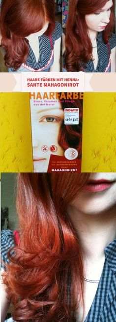 Haare färben mit Henna: meine Erfahrungen mit dem Sante Naturkosmetik Mahagonirot findet ihr auf dem Blog. rote Haare dank natürlicher Farbstoffe #naturalhair #vegan #organic #hair #hairstyle #redhair #beauty #blogger #Naturkosmetik #santé