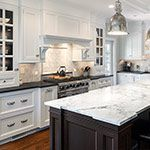 Absolute Black Honed Granite in Kitchen photo gallery.