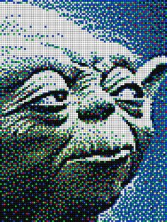 Yoda - Star Wars with Pixel Art Quercetti