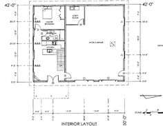 40x60 shop with living quarters floor plans pole barn for One level garage plans with living quarters