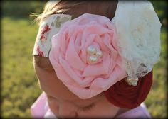 How to make Twist and roll flowers for headbands. Not that you need more to do but these flowers would look super cute on the flower girl dresses!
