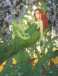 I'm sort of new to Batman comics, but one of my favorite villains is Poison Ivy (the others being Harley Quinn and the Joker). Dc Poison Ivy, Poison Ivy Dc Comics, Poison Ivy Comic, Poison Ivy Batman, Poison Ivy Cosplay, Catwoman, Batgirl, Supergirl, Gotham City