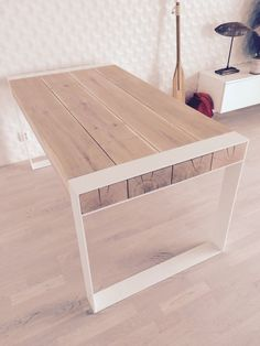 Handmade dining table. Pure contemporary design. by Poppyworkspl
