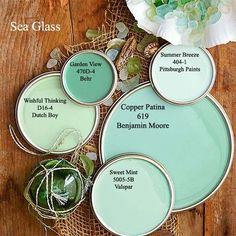 sea glass paint colors via bhgcom color palettes green paint sea glass paint color sea glass paint color valspar