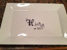 Sharpie personalized serving platter