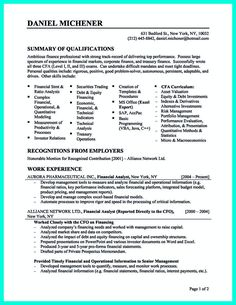 writing credit analyst resume is a must if you want to get a job