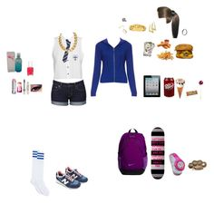 """""""St Trinian 's School- Jessica King"""" by candylandy-1 ❤ liked on Polyvore featuring art, swag, sttrinians, schooluniform, gangsta and chav"""