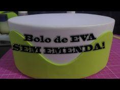 Como fazer bolo de EVA sem emenda (com base de papelão) - YouTube
