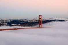 Fog at the Golden Gate Bridge, San Francisco