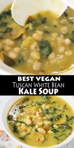 healthy dinner recipes videos The best Tuscan White Bean Kale Soup recipe with winter squash, leeks, lacinato kale and creamy cannellini beans. Super easy to make, without meat, vegan and gluten free! Kale Soup Recipes, Vegetarian Recipes, Cooking Recipes, Healthy Recipes, Vegetarian Soup, Keto Soup, Vegetarian Barbecue, Barbecue Recipes, Vegetarian Cooking