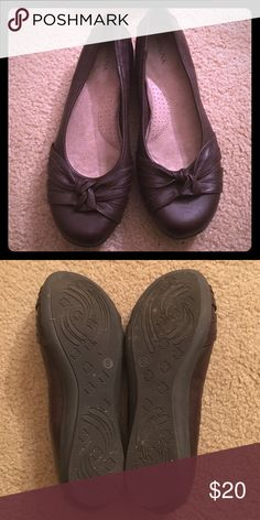 Brown Merona Slip On Shoes Good condition. Slip on. Has knot treatment. Memory foam insoles. Smoke free home. Merona Shoes Flats & Loafers