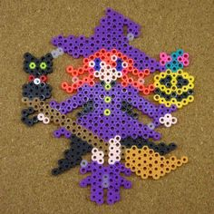 Witch Halloween perler beads by tentenyama - http://www.mariadiazdesigns.com/mdd/shop.php?showid=233
