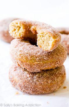 Baked Cinnamon Sugar Donuts.