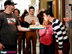 """By the time we wrapped Glee, I had the joy of getting to celebrate five birthdays on set,"" Darren Criss (Blaine ..."
