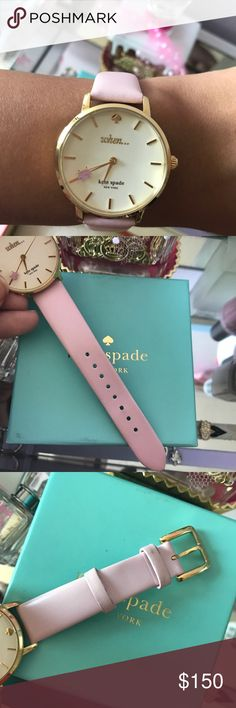 Kate spade pig watch Authentic Kate Spade New York pink flying pig watch. With box. Purchased at Macy's please view all photos 3rd photo has light mark other then that didn't see another flaw. kate spade Accessories Watches