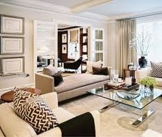 Living Room: Beige brown, antique gold, and turquoise accents