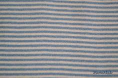 Jersey rayé bleu et blanc : Tissus Habillement, Déco par mamamade