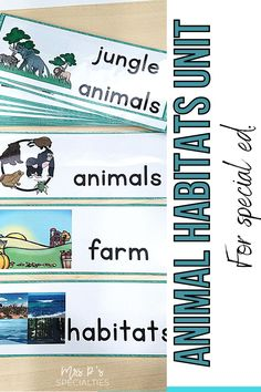 Break down science concepts with this animal habitats science unit created for special education students and classes. Use the materials to breakdown standard and learning targets in self-contained and inclusion settings. This unit is leveled to save you time and allow students in your whole class use the unit. This adapted unit will help you to easily design lesson plans & direct instruction for students who need hands on activities, visual supports and language broken down. Click now! Science Centers, Science Topics, Science Curriculum, Science Lessons, Teaching Science, Autism Classroom, Special Education Classroom, Classroom Resources, Classroom Ideas