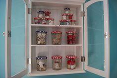 Bonne Maman jar storage