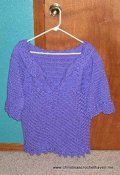 Purple Meadows Plus-Size Top - free crochet pattern