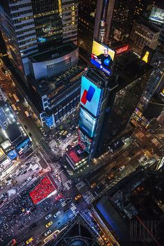 times square from above bynulooks