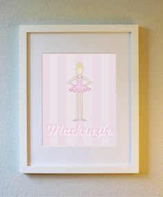 Cute Custom Personalized Ballerina Print  5x7 8x10 by evincedesign