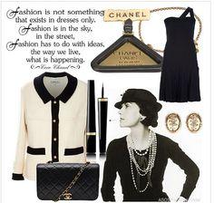 #chanel#chic#bonton#eleganza#black#outfit
