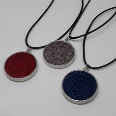 These are our last 3 glittery pendant necklaces. £5 each available colours, unicorn pink, twilight blue, and rich red. Please get in touch to order #glitter #glitterynecklace #glitteryjewellery #unicorn #unicornglitter #fashionjewellery #costumejewellery #giftsforher #sparkle #sparkily #handmade #bargainbin #clearencesale Unicorn And Glitter, Twilight, Gifts For Her, Fashion Jewelry, Sparkle, Necklaces, Colours, Pendant Necklace, Touch