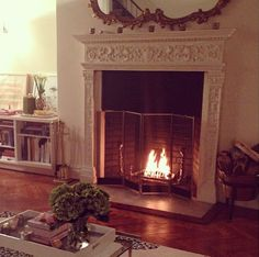 Doesn't this look cozy? Learn how to ignite the perfect blaze just like model Miranda Kerr.
