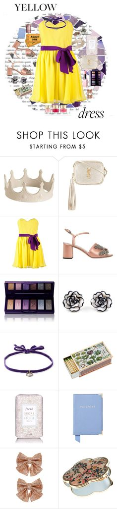 """In La La Land: Yellow Dresses"" by misssally ❤ liked on Polyvore featuring Seletti, Yves Saint Laurent, Jay Godfrey, Rochas, By Terry, DANNIJO, Fresh, Aspinal of London, Monsoon and Accessorize"