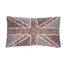 Welcome Spring with this Vintage Floral Union Jack Cushion  £16.95