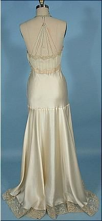 This is the back of a 1930's nightgown.  I was thinking this would be an amazing back for an evening gown.