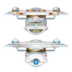 Starship schematic, Excelsior class starship [variant] USS Enterprise (NCC-1701-B).  Keep clicking on the photo. It'll enlarge to show one of the most amazing blueprints you've ever seen!