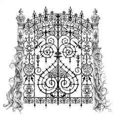 tattoo design cemetery gate