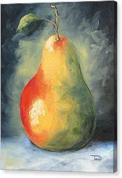 My Favorite Pear Canvas Print by Torrie Smiley